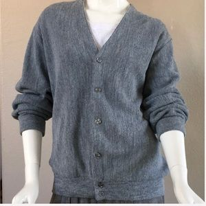 Gray Grandpa Sweater